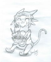 Chibi Meow Sketch by The-B-Meister