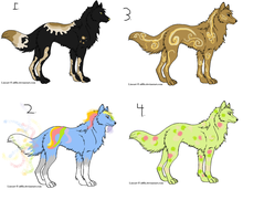 Wolf Adoptables by LittleOrca20