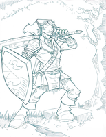 Sketch: The Legend of Zelda's Link by davidstonecipher