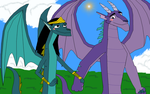 Councilor Andam and Councilor Omina dragons by SunsetMajka626