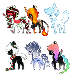 Christmas Ponies [OPEN] by togekissuadopts