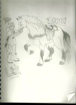~Link and Epona by Cairue12