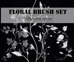 Floral brush set by Lileya
