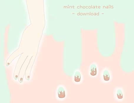 [download] mint chocolate nail texture by sailor-rice