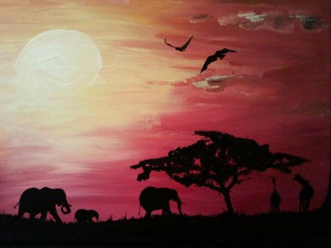 African Sunset by holybell07