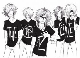 the Gazette T-shirts by KaZe-pOn