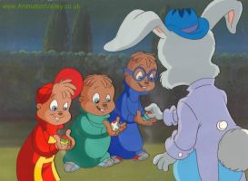 Alvin and The Chipmunks Cel by AnimationValley