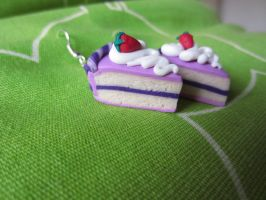 cake-earrings by Zoeira
