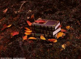 Autumn books by LucreciaMortishia