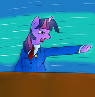 Twilight Sparkle: Ace Attorney by My-little-Brony