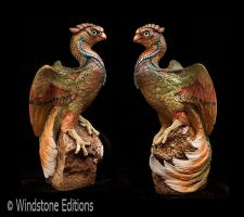 Serpentine Phoenix sculpture by Reptangle
