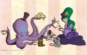 Otto and Victoria - TeaParty by trapped-in-eternity