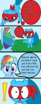 Rainbow dash vs Splendid Page 3 by FeryelDell