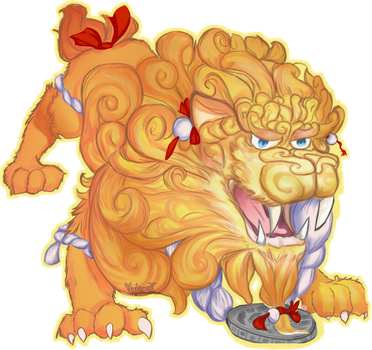 chinese lion of luck by Angsinat