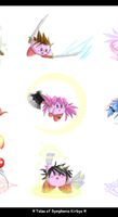 Tales Of Symphonia Kirbys by Chimykal-girl