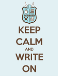 Keep Calm and Write On by Tannalein