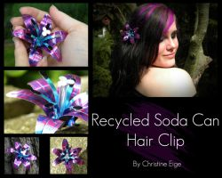 Soda Can Hairclip - full view by Christine-Eige