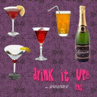 Drink It up PNG Objects by camiluchiiz