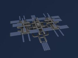 Original Space Station WIP II by GlacialWaters