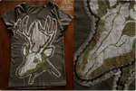 Handprinted Deer Skull T-shirt by Nymla