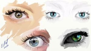 Eyes painting by Dathne
