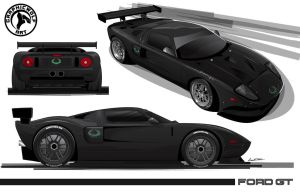 Ford GT Template by graphicwolf