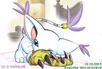 Gatomon in bed by Mouse-and-BlackGato