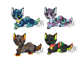 Glow Puppy Adopts (OPEN!) by Xecax