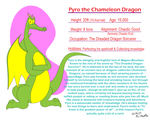 Fact File--Pyro the Chameleon Dragon by TheUnisonReturns