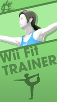 Wii Fit Trainer Smash Bros. Phone Wallpaper by MrThatKidAlex24