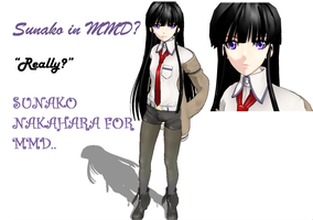 Sunako Nakahara for MMD by colorfulsparklelover