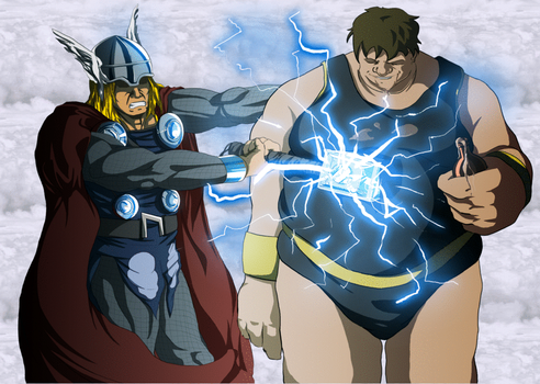 Thor Can't Move The Blob by Big-Ogre