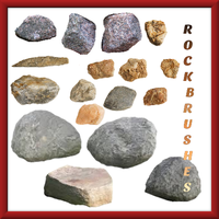 Stone and Rock Brushes by benjimacy
