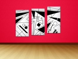 Art for my stairs wall by soadpedro
