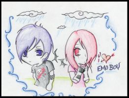 Emo love heart drawing by SxySam
