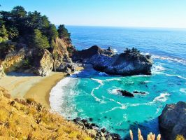 McWay Falls and Cove by LiveLifeWild
