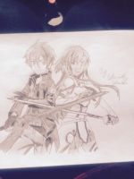 Asuna and kirito from Sword Art Online by captonstu