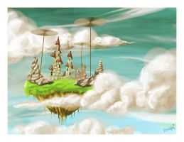 Castle in the sky by Medhi