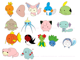 Stickers: Pokemon Mix (batch 1) by Wanilla-Bean