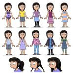 Phoebe: outfits and hair by Pedantia