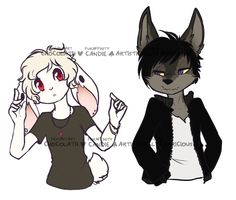 story of a bratty rich bunny and a cheeky old wolf by chocolath
