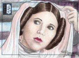 Star Wars G6 - Princess Leia Return Card by DenaeFrazierStudios