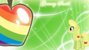 Young Granny Smith Zap Apple Wallpaper by lendaclue