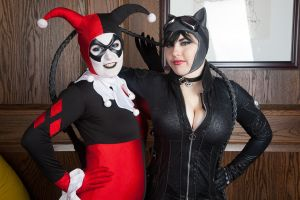 Harley Quinn and Catwoman by Nyxiie