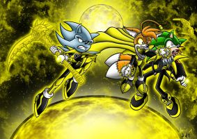 Parallax Tails Doll vs Scourge and Nazo by Berty-J-A