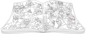 Character Select Line Art by Tyrranux