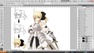 Saber Lily ~My previous work~ by shanaxtaiga