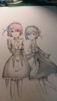 Ram and Rem by meokul123
