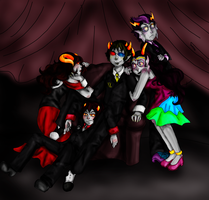 Sollux's Harem by Illustrambec