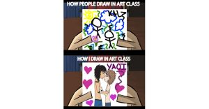 What I Draw In Art Class by emikolve16
